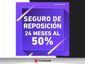 Seguro de reposición al 50%